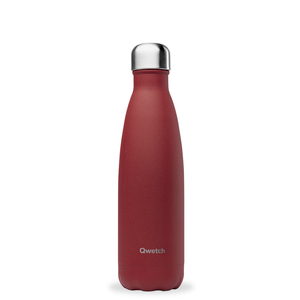 Bouteille isotherme Qwetch en inox Granite rouge 500 ml 697142