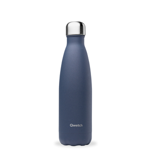 Bouteille isotherme Qwetch en inox Granite bleu nuit 500 ml 697143