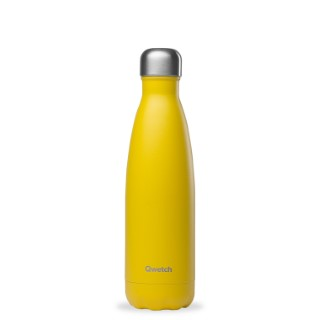 Bouteille isotherme Qwetch en inox Pop jaune 500 ml 697145