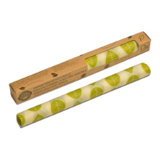 Rouleau d'emballage alimentaire Vegan décor feuilles vertes 30,5x90 cm 697164