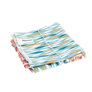 Lot de 4 mouchoirs réutilisables et lavables en coton 25 x 25 cm 697287