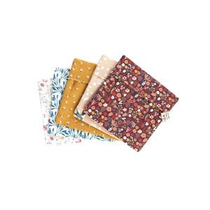 Pochette à savon en coton doublée d'un tissu absorbant 12 x 13 cm 697291
