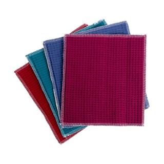 Lot de 5 essuie-tout lavables et réutilisables en coton 23 x 23 cm 697294