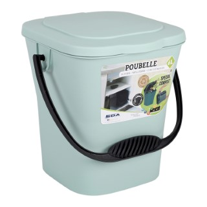 Seau à compost vert eucalyptus - 6L 697412