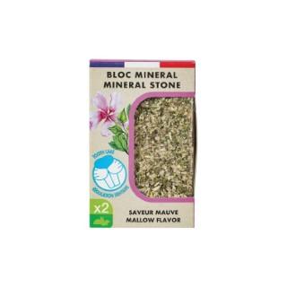 Bloc minéral eden aux fleurs de mauve gris  2 x 200 697503