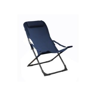 Chaise longue relax bleue 127 x 61 x 28,5 cm 697557