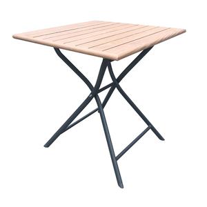 Table Max carrée en alu look teck 70 x 70 x 74 cm 697561