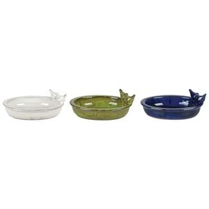Bain d'oiseaux ovale en céramique 30,7x22,9x10,4 cm coloris assortis 699042
