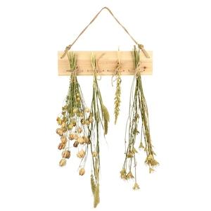 Cadre à suspendre x 4 crochets pour fleurs séchées 38,4x2,4x9,8 cm 699044