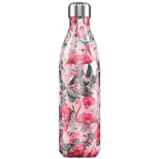 Bouteille isotherme tropical flamingo rose 750 ml 699069