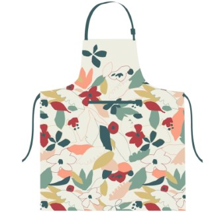 Tablier Cleo en coton à motif floral multicolore 72x85 cm 699122