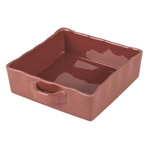 Plat four carré Gusto Terracotta grès 23x23 cm 699149