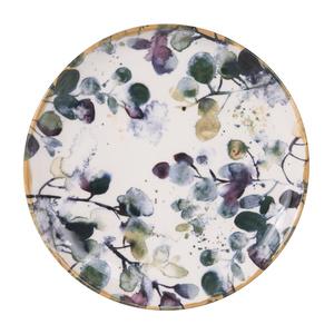Assiette à dessert Flora motif feuillage multicolore Ø 21,5 cm 699152