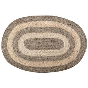 Tapis ovale en jute tressée marron/beige 90x60 cm 699244