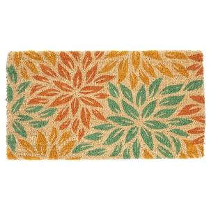 Paillasson Rosace en fibre de coco motifs multicolores 72x40 cm 699363