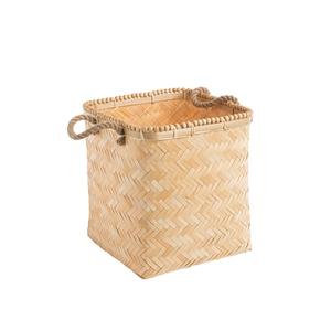 Panière rectangulaire en bambou petit modèle 25x25x30 cm 699378