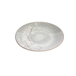 Assiette à dessert Sakura en céramique grise Ø 20,5 cm 699526