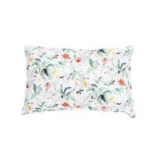 Coussin blanc en coton à motifs floraux multicolores 40x60 cm 699597
