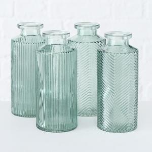 Vase Panja en verre vert sauge 4 modèles assortis Ø 6x H 13,8 cm 699643