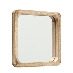 Miroir Mambo taille 1 carré en bois de Paulownia 25x25x3 cm 699650