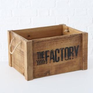 Boîte Factory en bois grand modèle 30x40x23 cm 699676
