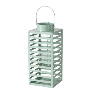 Lanterne en métal Lugo vert 17x17x40 cm 699687