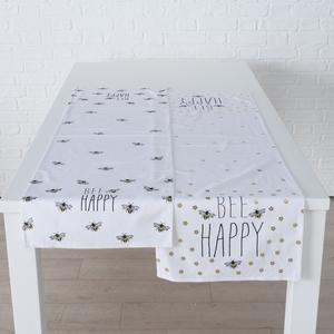 Chemin de table Maja en coton à motifs abeilles 2 modèles 40x140 cm 699692