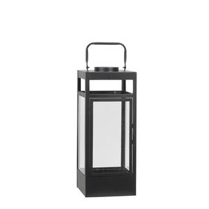 Lanterne Flint à LED en métal noir 16,5x16,5x41,5 cm 699710