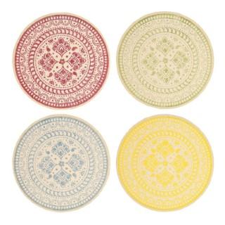 Set de table rond en papier 4 coloris assortis Ø 38 cm 699716