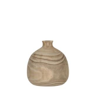 Vase Pia en bois de Paulownia H 25 x Ø 24 cm 699747