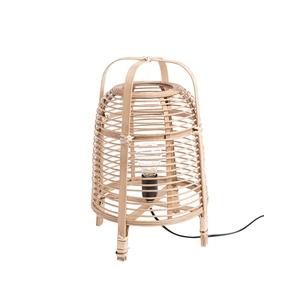 Lampe de table Page en bambou marron Ø 27 x H 41 cm 699756
