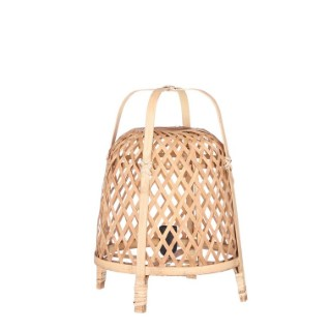 Lampe de table Malia en bambou marron Ø 29,5 x H 42 cm 699757