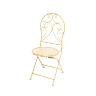 Chaise jaune en métal Yentl 92cm x 40cm 699788
