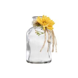 Vase soliflore forme bouteille avec décoration H 10 x Ø 5,5 cm 699803