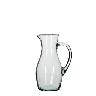 Pichet Nicci en verre recyclé transparent H 27,5 x Ø 9 cm 699813