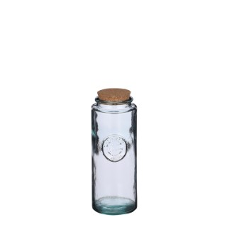 Bocal en verre Zara avec bouchon en liège H 25,5 x Ø 10 cm 699816
