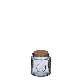 Bocal en verre Zara avec bouchon en liège H 13 x Ø 12 cm 699817