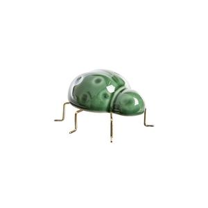 Scarabée en céramique verte et métal doré 8x7,5x5 cm 699826