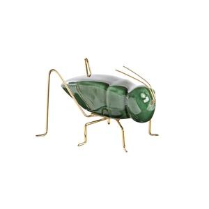 Criquet en céramique verte et métal doré 10x6,5x6 cm 699827