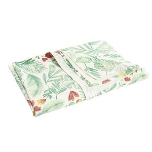 Torchon en coton motif végétal 50x70 cm 699842