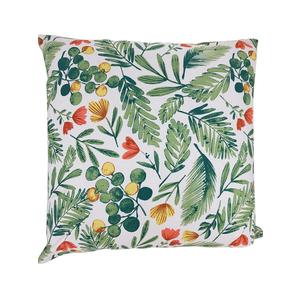 Coussin Olivier en coton à motifs verts 45 x 45 cm 699844