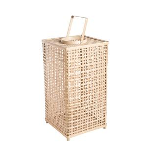 Lanterne rectangulaire en bambou 30,5x30,5xH60 cm 699899