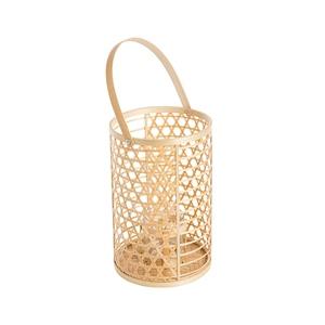 Lanterne cylindrique en bambou 17x26 cm 699903