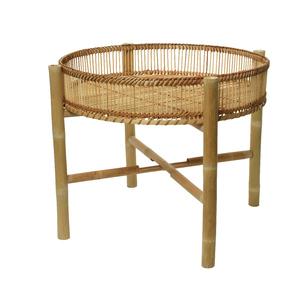 Table d'appoint en bambou à pieds pliables Ø 50 x H 43 cm 699918