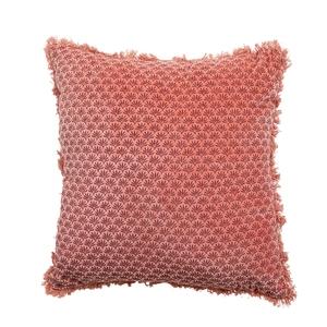 Coussin en coton à motif fleur de lotus coloris assortis 45x45 cm 699942