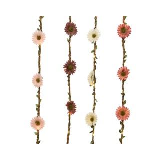 Guirlande à fleurs lumineuse à 20 micro led blanc chaud 150x20 cm 699946