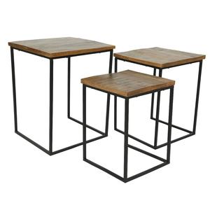 Table en bois de manguier et métal noir moyen modèle 699959