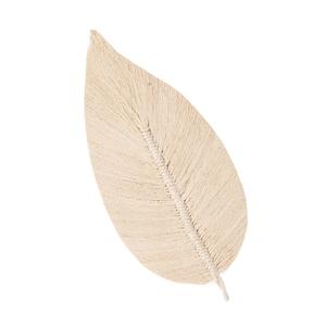 Feuille décorative en coton blanc cassé 15x2x30 cm 699970