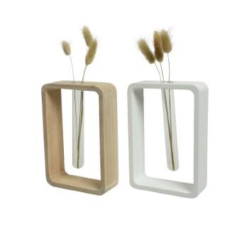 Soliflore rectangulaire blanc ou beige 4,5x12x18 cm 699973