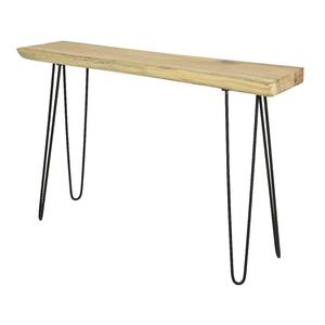 Sellette en bois de suar avec piétement métal noir 30x120x80 cm 699981